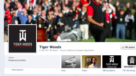 Tiger Woods: il golfista più amato su Facebook