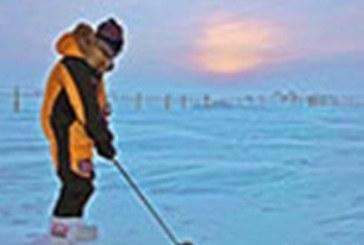 Giocare a golf in un paesaggio glaciale