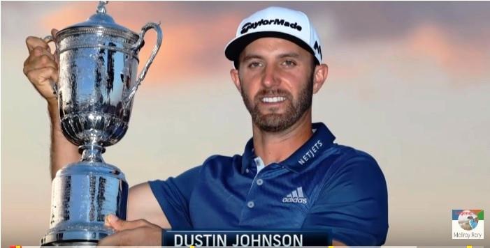 Il 1°U.S.Open di Dustin Johnson celebrato in 1 video