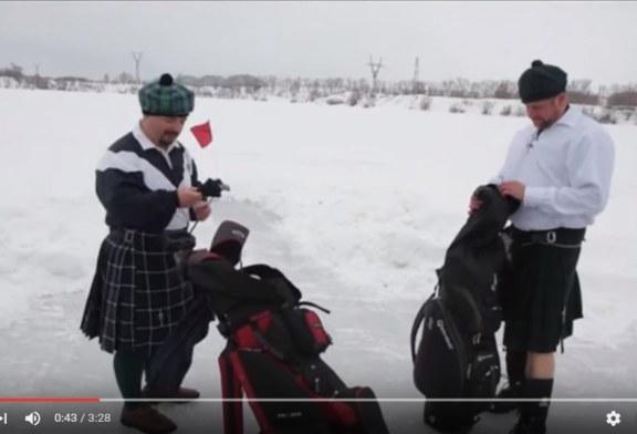 Golf sul ghiaccio: uno sport antico e divertente [Video]