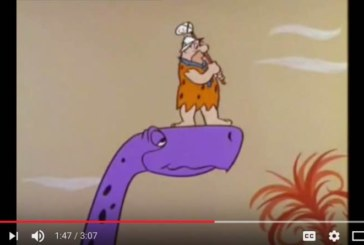Il golf con i dinosauri, Fred Flintstone gioca a golf [Video]