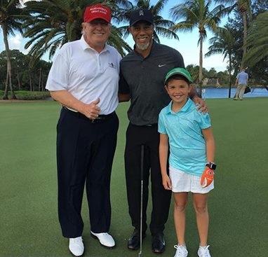 Partita a golf tra Tiger Woods e Donald Trump: che sfida!