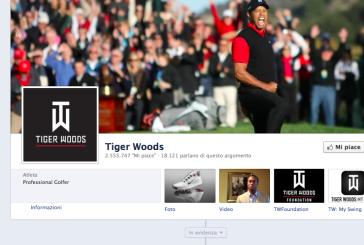 Tiger Woods: il golfista più amato su Facebook