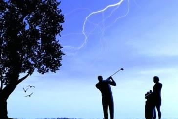 Fulmini durante la partita di golf, cosa fare?